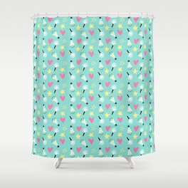 Party stars Shower Curtain