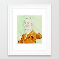 bill Framed Art Prints featuring Bill by withapencilinhand