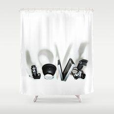 Love Photography Shower Curtain
