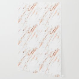 Pink Quartz Marble Rose Gold White Wallpaper