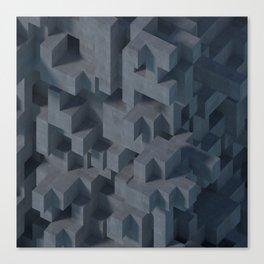 Concrete Abstract Canvas Print
