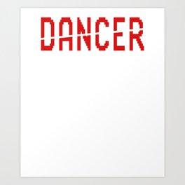 Happy Dancer Funny Men's Joke Professional Boner Holder Dad Art Print