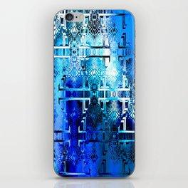 1001 Lights Pattern (azure-lapis-sky) iPhone Skin
