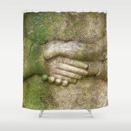Tombstone Handshake Shower Curtain