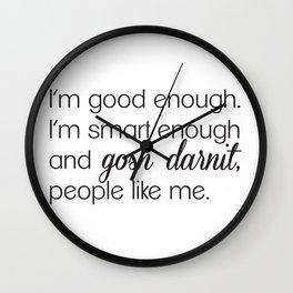 Affirmation Wall Clock