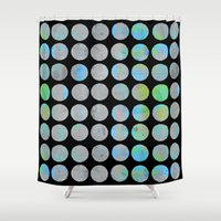 dots Shower Curtains featuring Dots  by LebensARTdesign