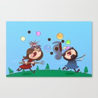 animal crossing Canvas Prints featuring Animal Crossing Grumps by Steven Ray Brown