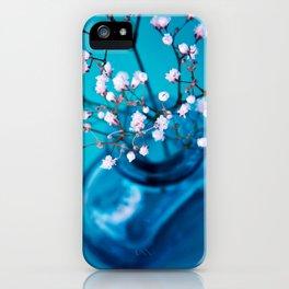 BLUE-WHITE BABYBREATH iPhone Case
