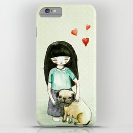Pug is my best friend iPhone Case