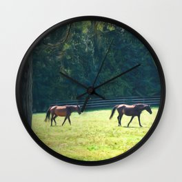 Summer Mares Wall Clock