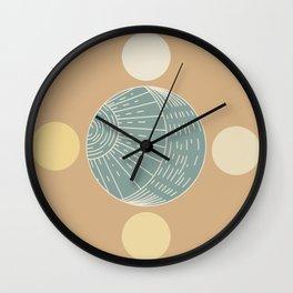 Bohemian Moon - Mid Century Modern Circles Wall Clock