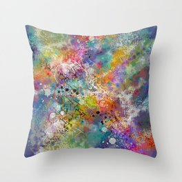 PAINT STAINED ABSTRACT Throw Pillow