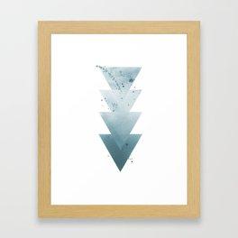 Blue Triangles. Framed Art Print