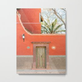 Red and Green | The San Miguel de Allende Mexico door collection | Travel photography print Metal Print