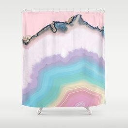 Rainbow Agate Slice Shower Curtain