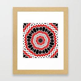 Bizarre Red Black and White Pattern Framed Art Print