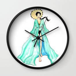 Watercolor Summer Wall Clock