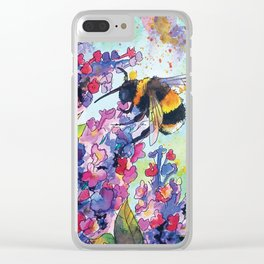 Drink up little bee Clear iPhone Case