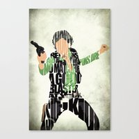 han solo Canvas Prints featuring Han Solo by A Deniz Akerman