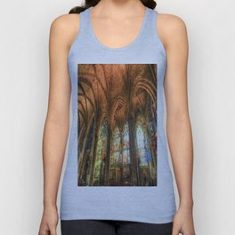 Winter Sun Cathedral Unisex Tank Top