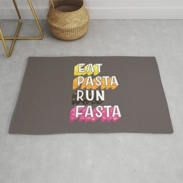Eat Pasta typography Rug