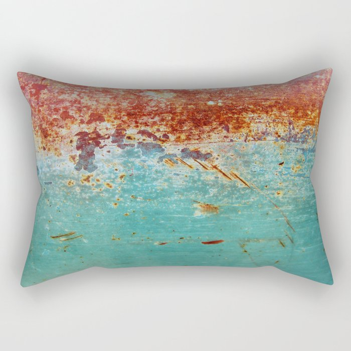 Teal Rust Rectangular Pillow