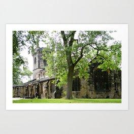 Old Church in England: Batley All Saints Art Print