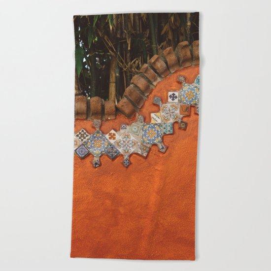 Mexican Tile Beach Towel