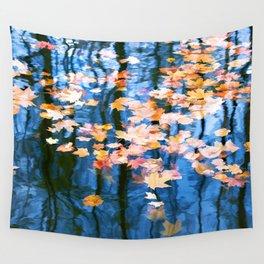 Fallen leaves in water Wall Tapestry