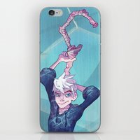 jack frost iPhone & iPod Skins featuring Jack Frost by Bobby Fasel