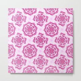 Candy Floss Mandala Metal Print