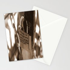 Lock It Down Stationery Cards