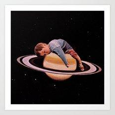 sleeping on stars Art Print