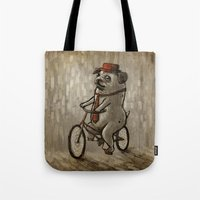 dogs Tote Bags featuring Dogs by Ronan Lynam
