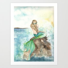 Summer Mermaid Art Print