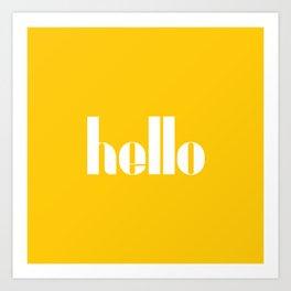 Hello (Crocus Yellow) Art Print
