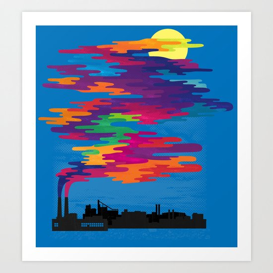 Hidden in the Smog (day) Art Print
