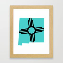 New Mexico Zia Framed Art Print