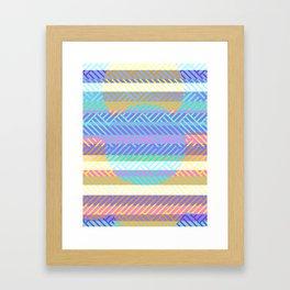 Weaving - golden and blue Framed Art Print
