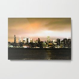Empire State at Night, C Metal Print