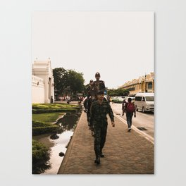 patrolling the grand palace Canvas Print