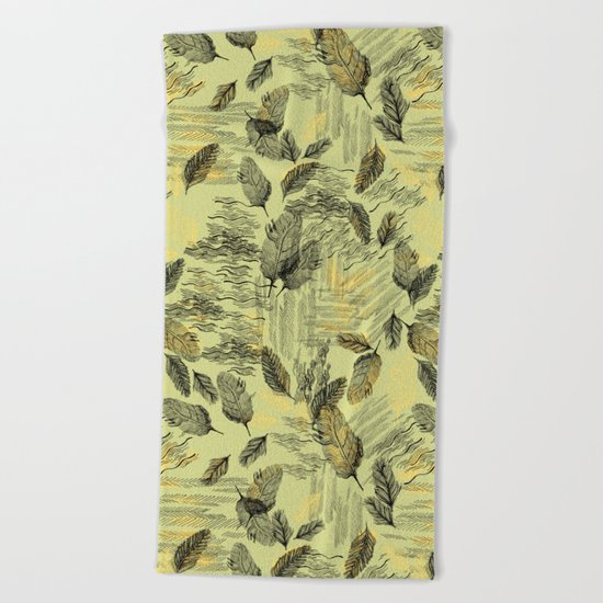 Seamless Blossom Pattern Beach Towel