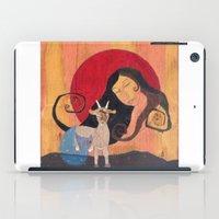 capricorn iPad Cases featuring Capricorn by LeaK Arts