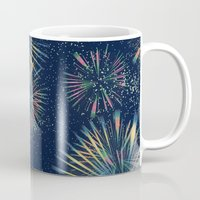 fireworks Mugs featuring Fireworks! by LLL Creations
