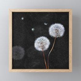 Black Dandelion Framed Mini Art Print