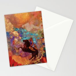 "Odilon Redon ""Muse on Pegasus"" Stationery Cards"