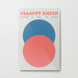 Elliott Smith - Music Poster - Gig  Metal Print
