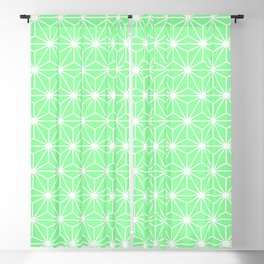 Pastel Green Geometric Isosceles Triangle Pattern Blackout Curtain