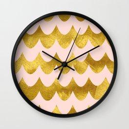 Pink Gold Foil 04 Wall Clock