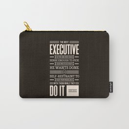 Lab No. 4 The Best Executive Theodore Roosevelt Inspirational Quote Carry-All Pouch